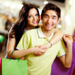 Shopping couple — Stockfoto