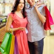 romantico shopping — Foto Stock