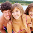 Cute summer teens — Stock Photo