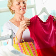 Shopper with tanktop - Stockfoto