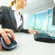 Hand on mouse — Stock Photo #10746201