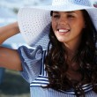 Woman in hat — Stock Photo