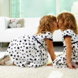 Twin girls — Stock Photo