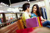 Shopping lovers — Stock Photo