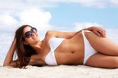 Pretty sunbather — Stock Photo