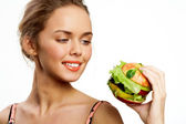 Hungry for vegs — Stock Photo
