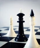 Chess in its contrast — Stock Photo