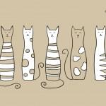 Five cats — Stock Vector #10691688