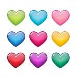 Color hearts — Stock Vector