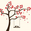 Hearts tree — Vector de stock