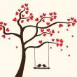 srdce strom — Stock vektor
