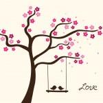 Flower tree — Stock Vector