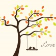 Love tree — Stock vektor