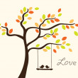 Love tree - Stockvectorbeeld