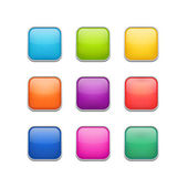 Color buttons — Vector de stock