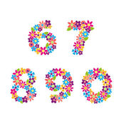 Floral numbers — Stock Vector