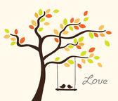 Love tree — Vettoriale Stock
