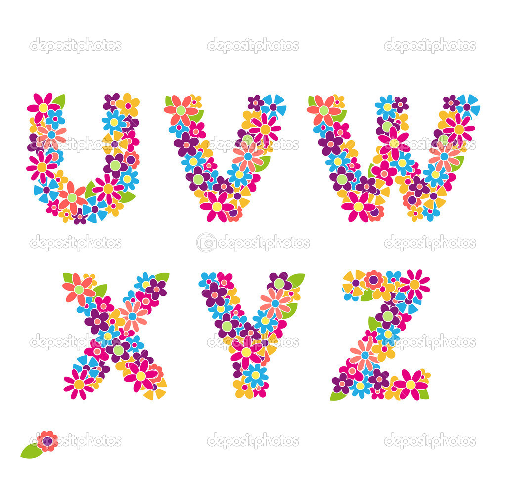 Beautiful Letters Beautiful floral letters.