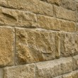 Oblique view of a sandstone wall — Stock Photo