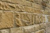 Vista oblicua de un muro de piedra arenisca — Foto de Stock