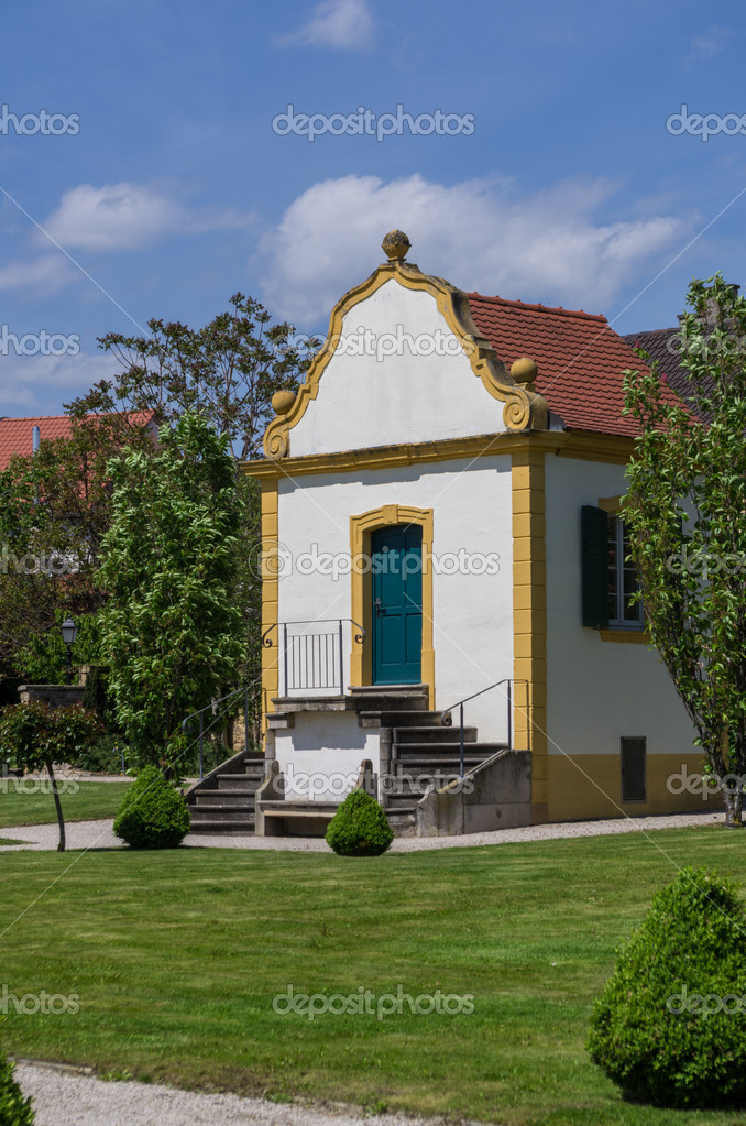 Old garden house in baroque garden  Stock Photo #10688476