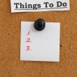 To Do bulletin board. — Stock Photo