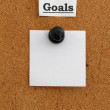 Goals bulletin board — 图库照片