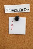To Do bulletin board. — Stock Photo