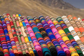 Peruvian blankets — Stock Photo
