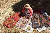 Peruvian dressmaker - Titicaca Lake - Peru — Stock Photo