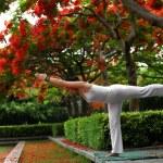 Yoga Warrior III Pose — Stock Photo