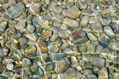 Pebbles in shallow water — Stock Photo