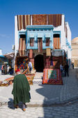 Carpet shop in the souks of Kairouan — Stock Photo