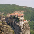 Foto Stock: Monastery seen from large Meteora