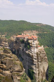 Monastery seen from the large Meteora — Stock Photo