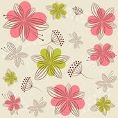 Seamless background with flowers — Stock Vector