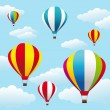 Stock Vector: Colorful air balloons on the blue sky