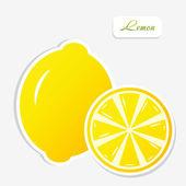 Lemon sticker — Stock Vector