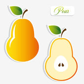 Pear stickers — Stock Vector