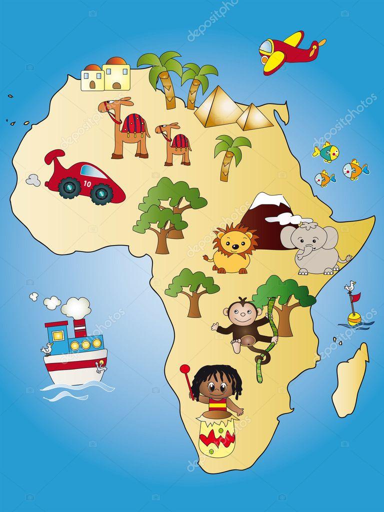 非洲地图 — 图库照片08casaltamoiola#10655432