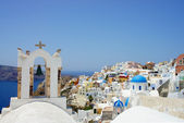 Amazing white houses of Santorini — Stock Photo