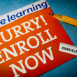 Hurry enroll now — Stock Photo #10687376