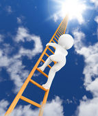 Ladder to sky 3d — Stock Photo