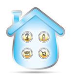 House telecomunication services — Stock Vector