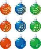 Vector Balls xmas set color 01