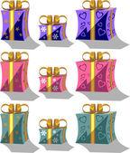 Vector Holiday giftbox set in color 01