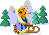 Vector Tiger winter color 01