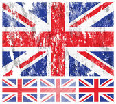 United kingdom grunge flag set