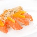 thumbnail of Salmon nigiri with orange