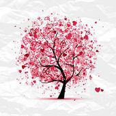 Valentine strom s srdce pro návrh